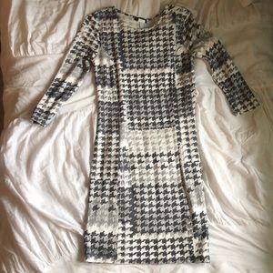 Venus Gray Houndstooth Mini Dress